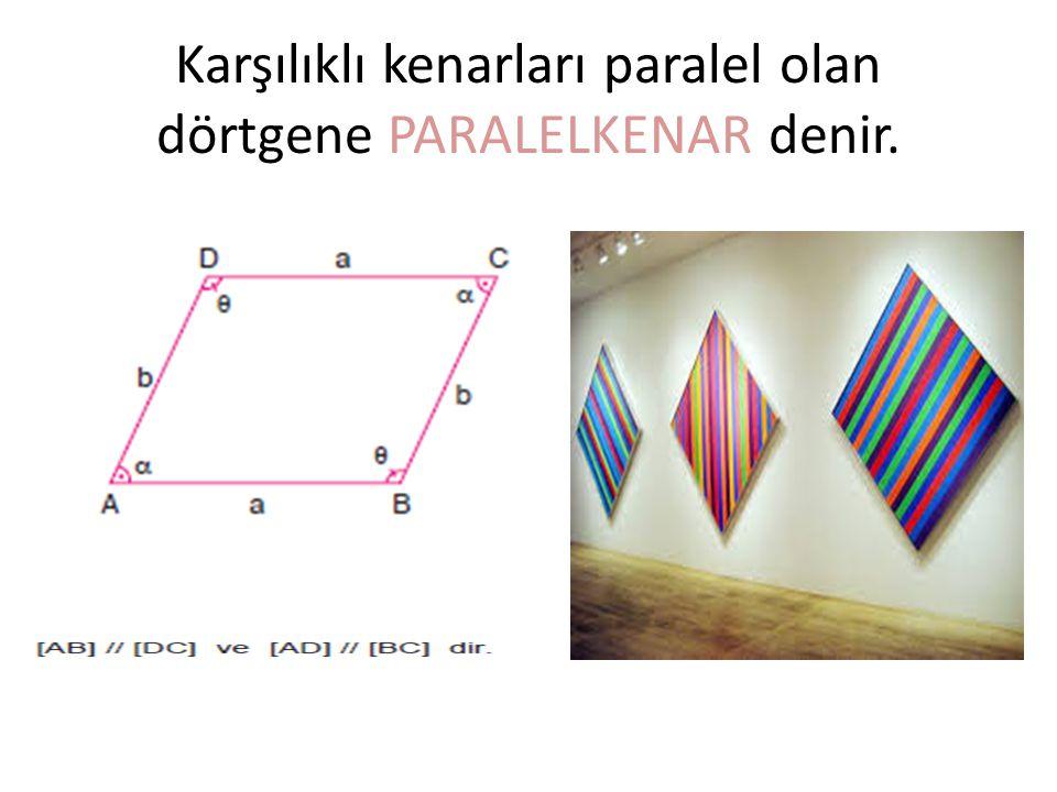 Karşılıklı kenarları paralel olan dörtgene PARALELKENAR denir.