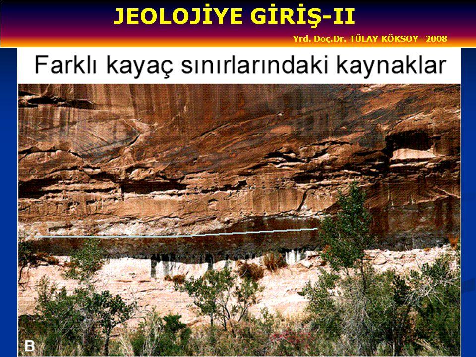 JEOLOJİYE GİRİŞ-II Yrd. Doç.Dr. TÜLAY KÖKSOY- 2008