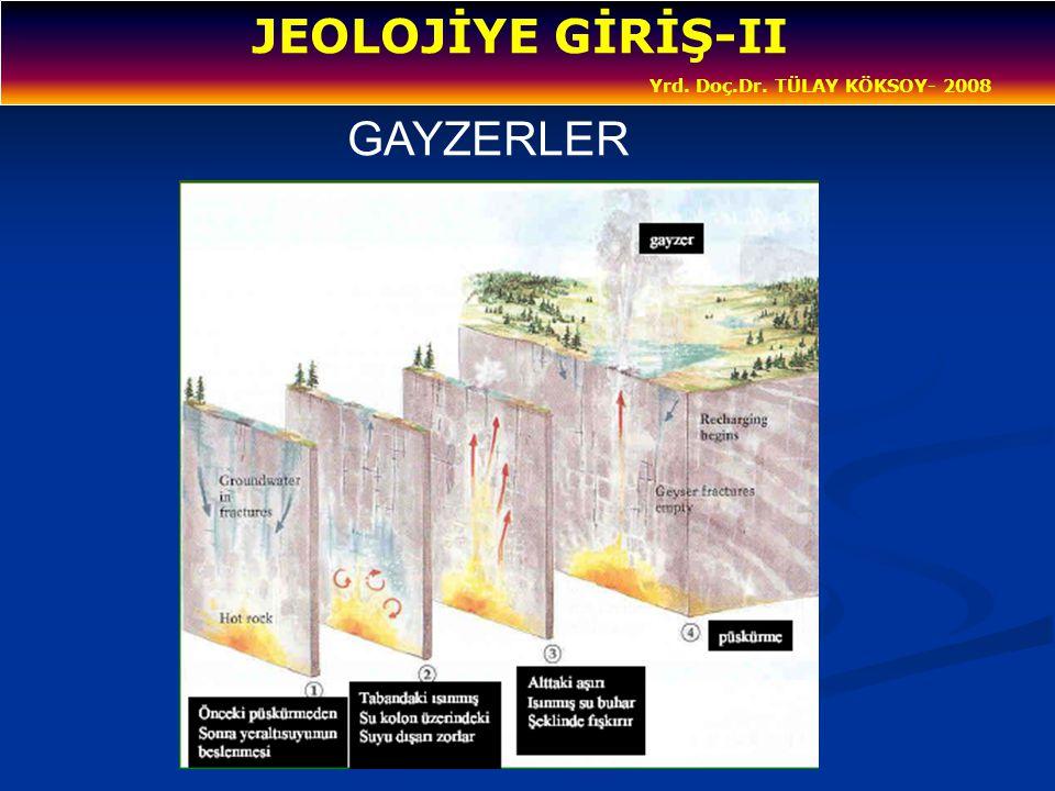 JEOLOJİYE GİRİŞ-II Yrd. Doç.Dr. TÜLAY KÖKSOY- 2008 GAYZERLER