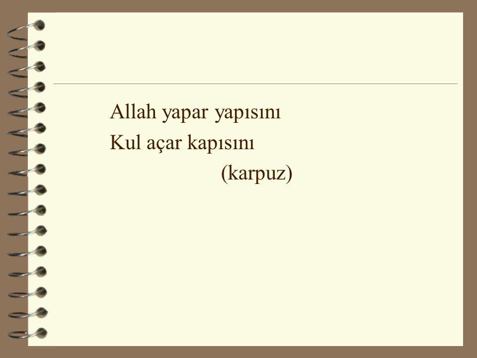 Allah yapar yapısını Kul açar kapısını (karpuz)