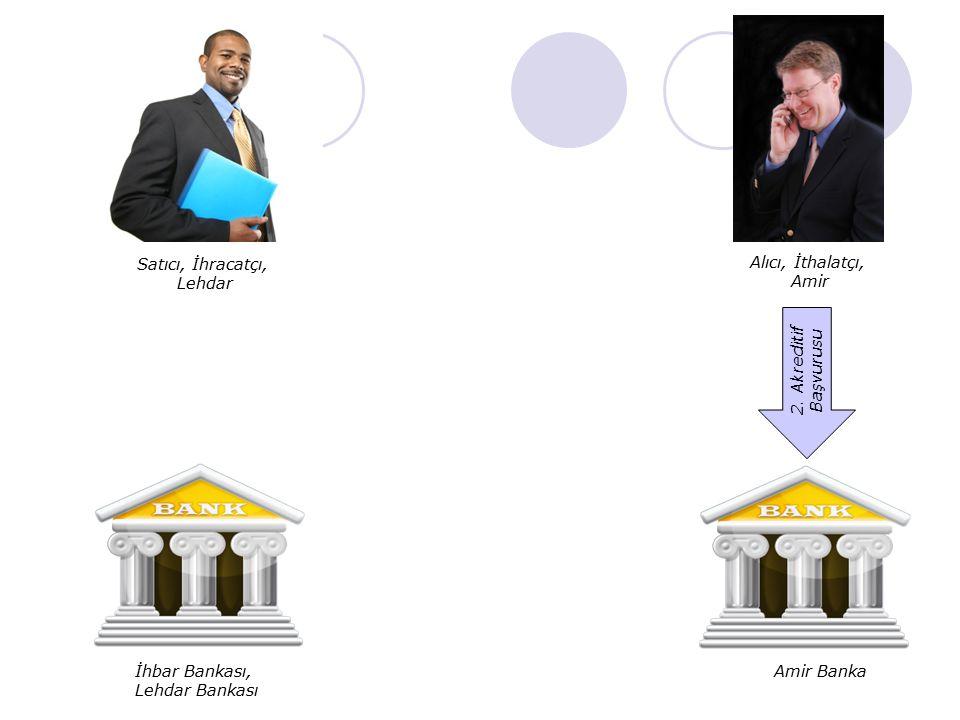 Satıcı, İhracatçı, Lehdar Alıcı, İthalatçı, Amir İhbar Bankası, Lehdar Bankası Amir Banka 2. Akreditif Başvurusu