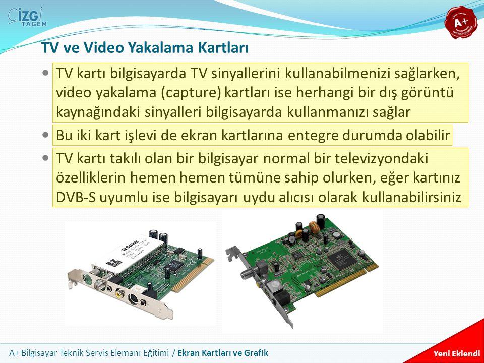 A+ Bilgisayar Teknik Servis Elemanı Eğitimi / Ekran Kartları ve Grafik TV ve Video Yakalama Kartları TV kartı bilgisayarda TV sinyallerini kullanabilm