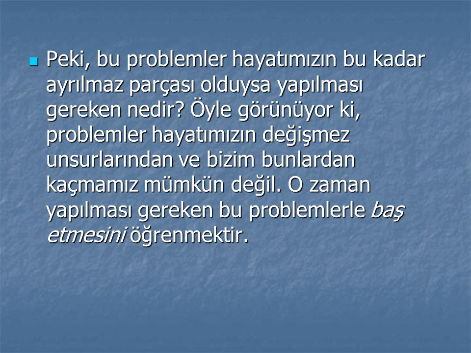 Bir başka anlatımla, problem çözme becerilerini kazanmak ve bu problemleri çözmektir.