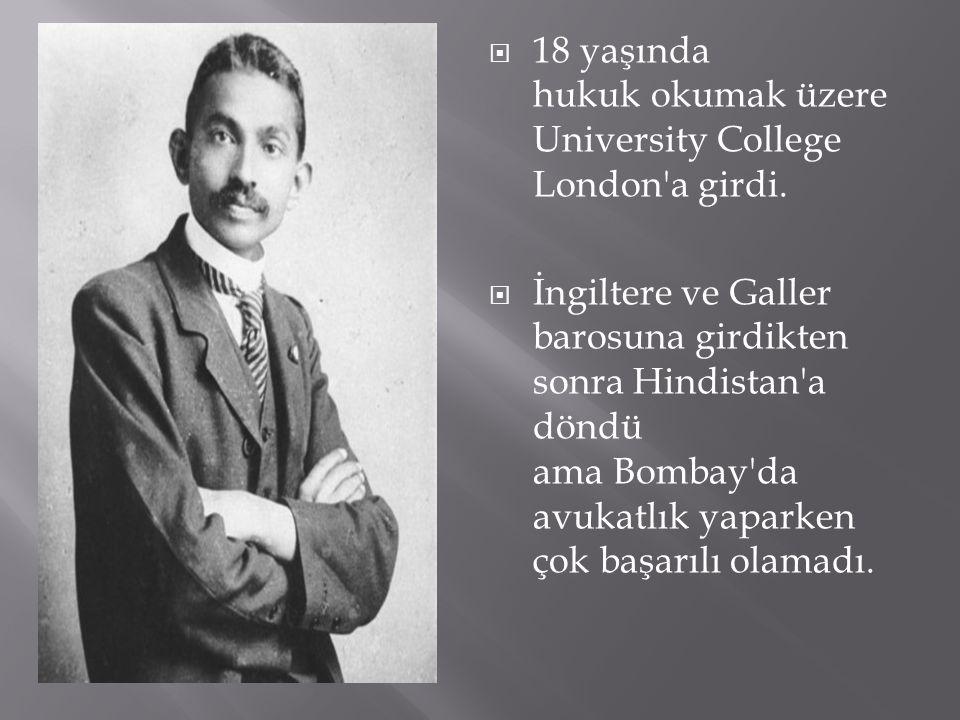  18 yaşında hukuk okumak üzere University College London'a girdi.  İngiltere ve Galler barosuna girdikten sonra Hindistan'a döndü ama Bombay'da avuk