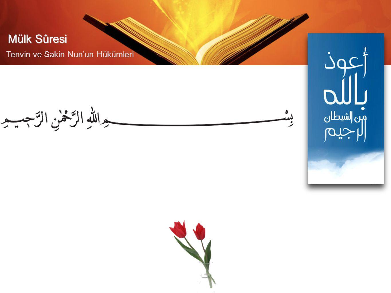 Mülk Sûresi Tenvin ve Sakin Nun'un Hükümleri İHFA 2.Sayfa İHFA İZHARİDĞAM MĞ