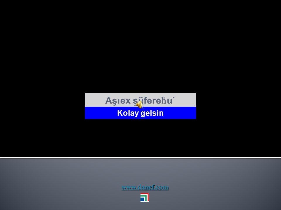 WO Ḣ UXER Ali İhsan TARI İnş. Yük. Müh. F5 tuşu slaytları çalıştırmaktadır. naje@danef.com