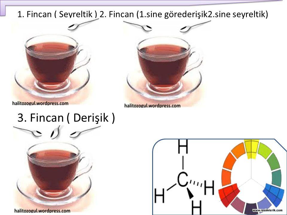 1. Fincan ( Seyreltik ) 2. Fincan (1.sine görederişik2.sine seyreltik) 3. Fincan ( Derişik )