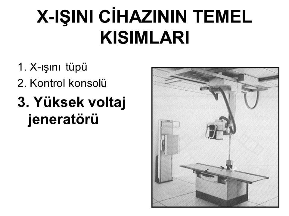 RÖNTGEN CİHAZLARI ve FİZİK PRENSİPLERİ 6 Dr. Gülçin Dilmen
