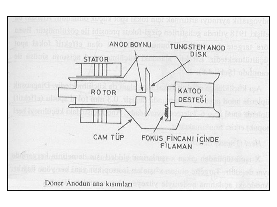 DÖNER ANOD 4 Rotorun dişlilerindeki sürtünmeyi minimuma indirmek için metalik kayganlaştırıcı olan ısıya dayanaklı gümüş kullanılmaktadır. Döner aanod
