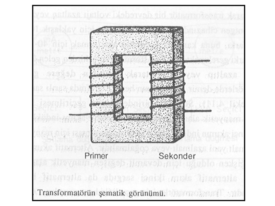 OTOTRANSFORMATÖR 2 Transformatörlerde demir bir halkanın her iki tarafına sarılı sargı telleri bulunur. Sargının birinden akım geçirilmesi ile onun ol