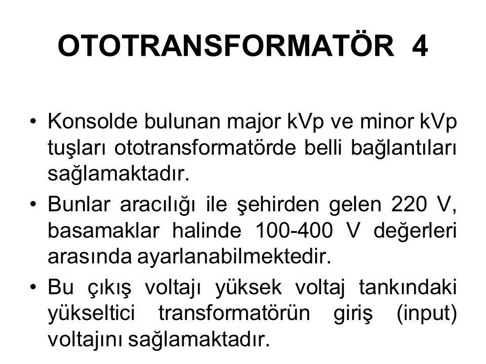 OTOTRANSFORMATÖR 3 Yükseltici transformatörlerde ikinci sargının tel sargı oranı birinciden fazladır, dolayısıyla ikinci devrede voltaj yükseltilir, a