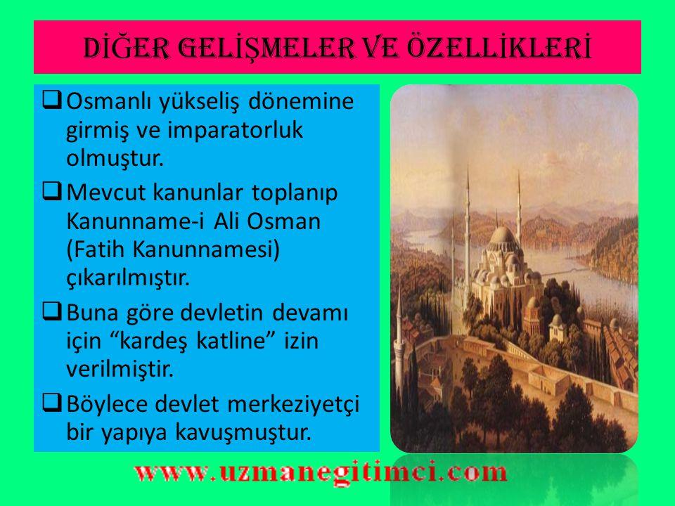 OSMANLI VENED İ K İ L İŞ K İ LER İ (1463-1479)  İmtiyazlar Antlaşması (1479):  Her iki taraf aldıkları yerleri geri verecek.