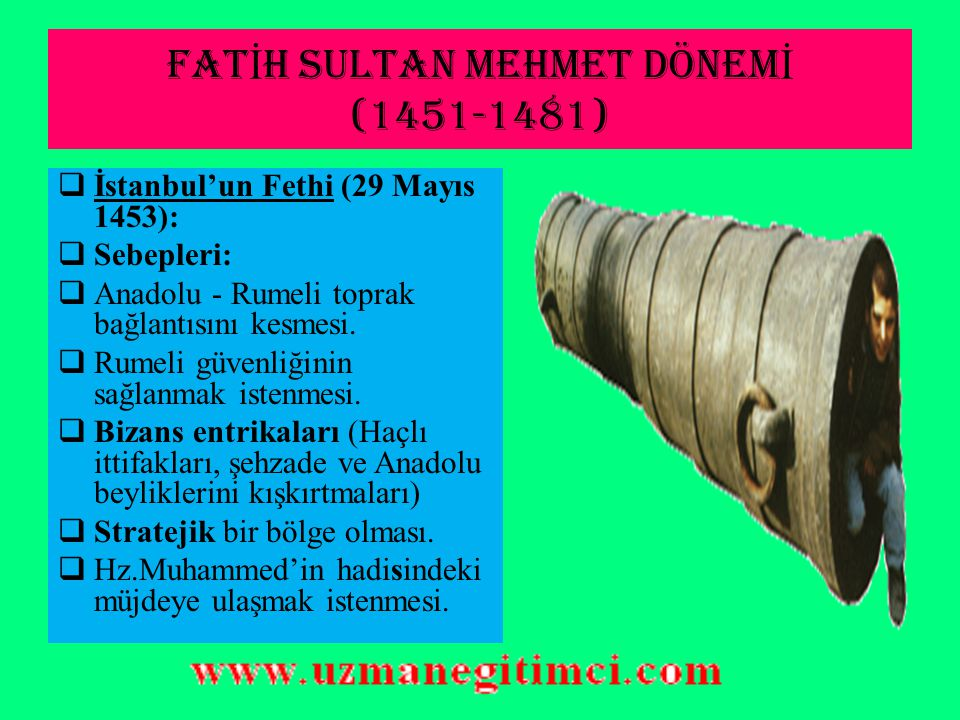 YÜKSELME DÖNEM İ PAD İŞ AHLARI İstanbul'un Fethinden, Sokullu Mehmet Paşa'nın ölümüne kadar olan dönemdir.