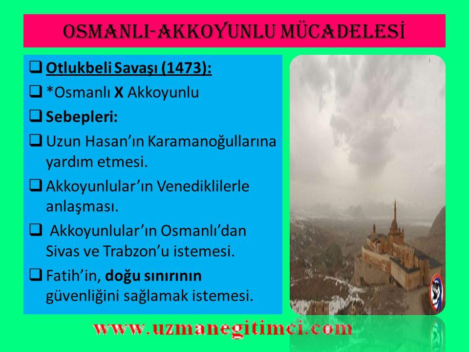 FAT İ H DÖNEM İ FET İ HLER İ BALKANLARDA ALINAN YERLER:  Sırbistan ( Belgrad hariç) 1459  Mora Yarımadası 1460  Eflak ve Boğdan 1462-1476  Bosna-Hersek 1463-1465  Arnavutluk 1479  Not: Bu devirde Osmanlı sınırı Balkanlarda Tuna Nehrine kadar ulaştı ANADOLUDA ALINAN YERLER:  Amasra (Cenevizlilerden) (1459)  Sinop (Candaroğulları) (1460)  Trabzon, Trabzon Rum İmparatorluğu sona erdi (1461)  Konya ve Karaman (Karamanoğulları) (1466)