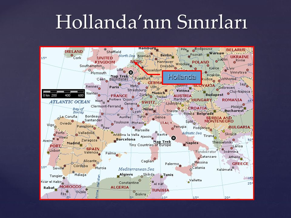 Hollanda'nın Sınırları Hollanda'nın Sınırları Hollanda