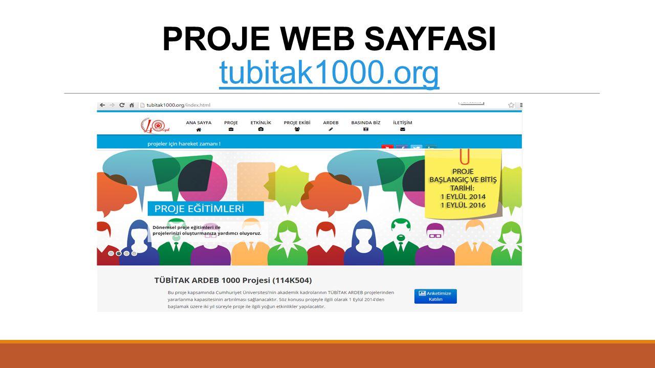 PROJE WEB SAYFASI tubitak1000.org tubitak1000.org