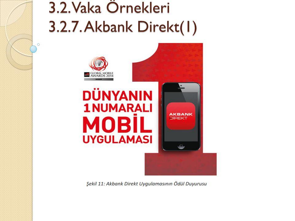 3.2. Vaka Örnekleri 3.2.7. Akbank Direkt(1) 3.2. Vaka Örnekleri 3.2.7. Akbank Direkt(1)
