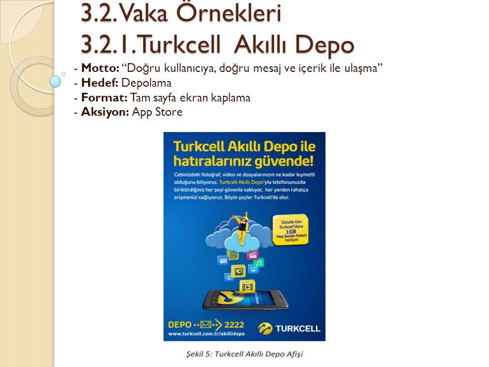 """3.2. Vaka Örnekleri 3.2.1.Turkcell Akıllı Depo 3.2. Vaka Örnekleri 3.2.1.Turkcell Akıllı Depo - Motto: """"Do ğ ru kullanıcıya, do ğ ru mesaj ve içerik i"""