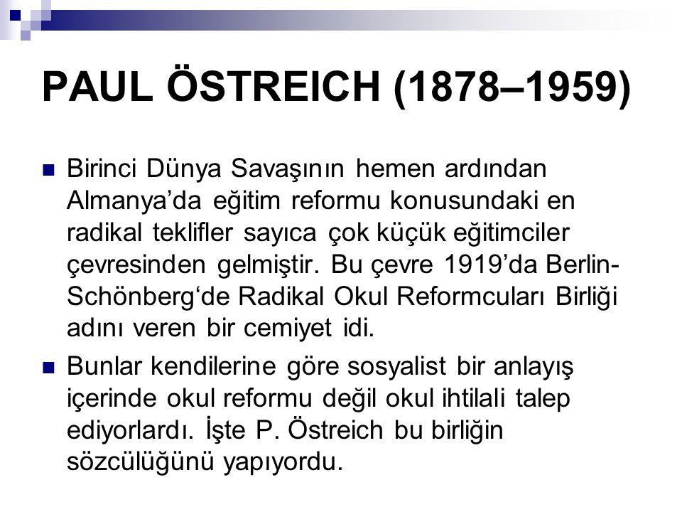 P.Östreich konuşmalarında ve yazılarında Marxizm'in temel görüşüne bağlı olduğunu söyler.