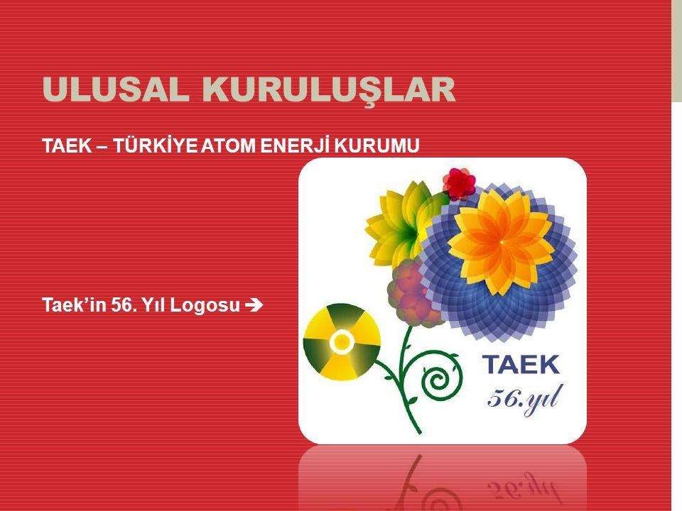 ULUSAL KURULUŞLAR TAEK – TÜRKİYE ATOM ENERJİ KURUMU Taek'in 56. Yıl Logosu 