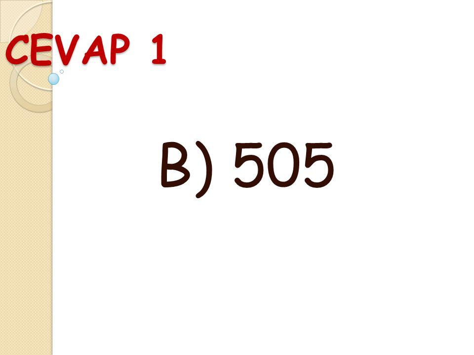 SORU 1 545 sayısında 5 rakamlarının basamak değerleri toplamı kaçtır? A ) 505 B ) 550 C ) 500