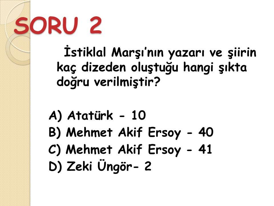 CEVAP 1 C) Karadeniz - Ankara