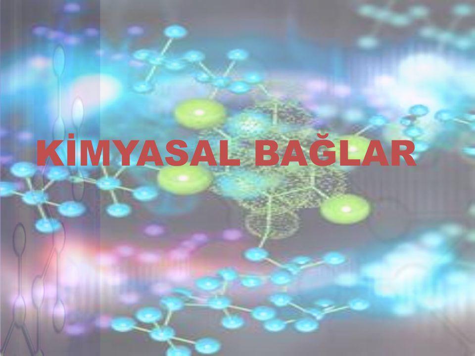 A) İyonik bağlar: Tepkimeye giren elementlerden birinin atomları,elektron kaybedip pozitif yüklü iyonlara dönüşürken,diğer elementin atomları elektron kazanıp negatif yüklü iyon oluştururlar.