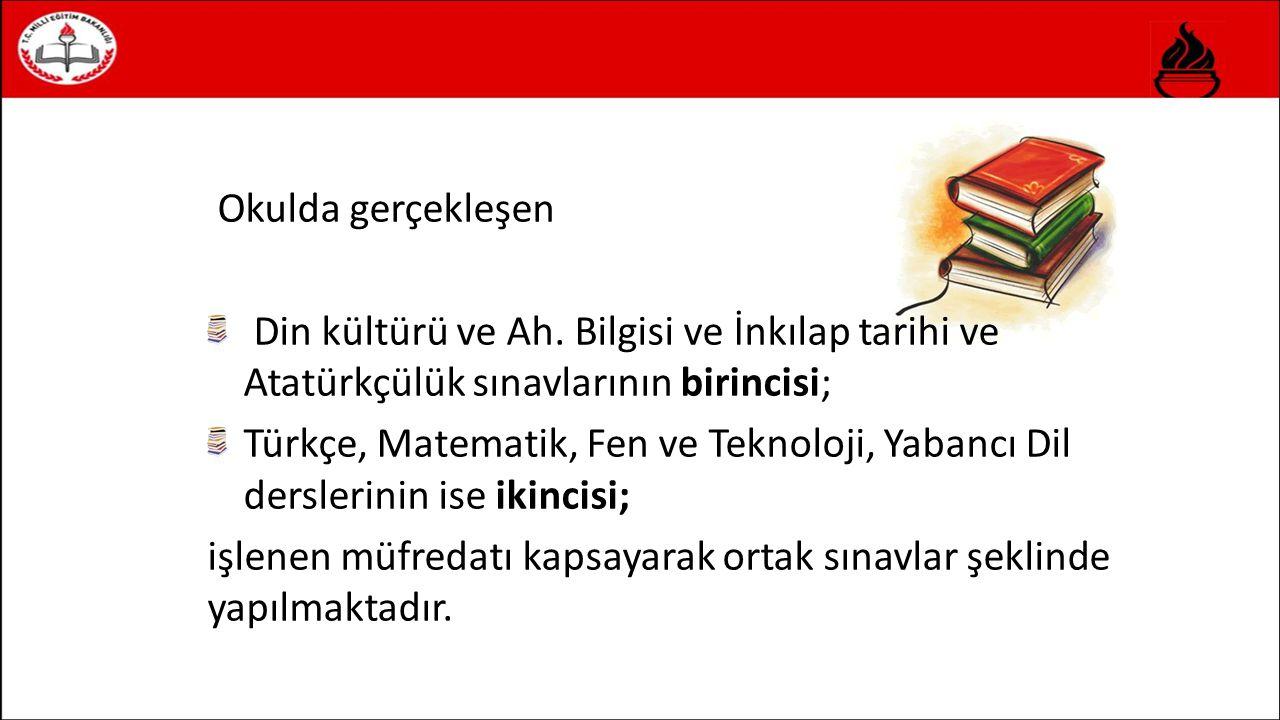 Okulda gerçekleşen Din kültürü ve Ah.