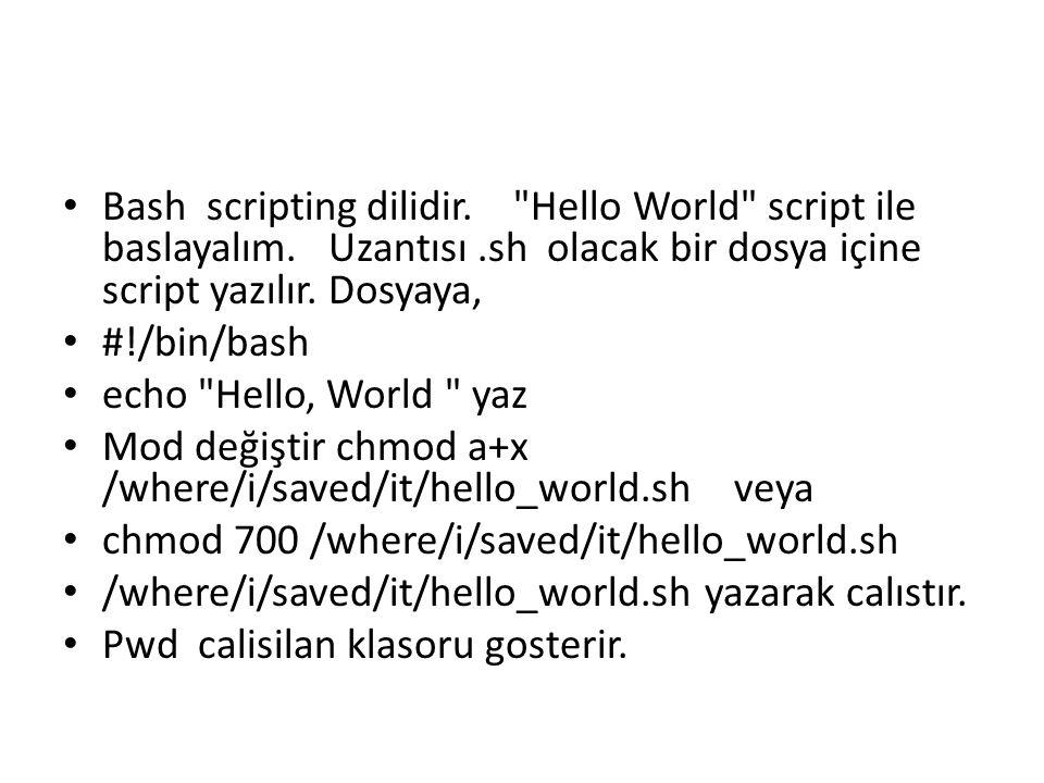 Bash scripting dilidir.