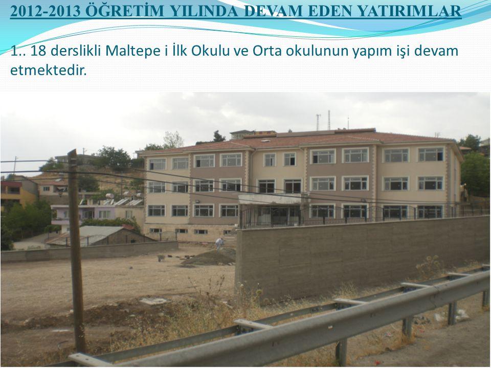 2012-2013 ÖĞRETİM YILINDA DEVAM EDEN YATIRIMLAR 1..