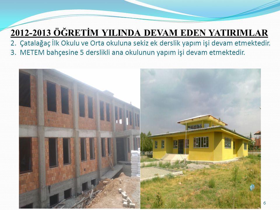 6 2012-2013 ÖĞRETİM YILINDA DEVAM EDEN YATIRIMLAR 2.