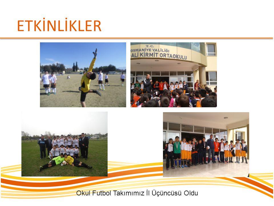 ETKİNLİKLER Okul Futbol Takımımız İl Üçüncüsü Oldu