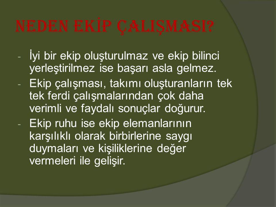 NEDEN EK İ P ÇALI Ş MASI.