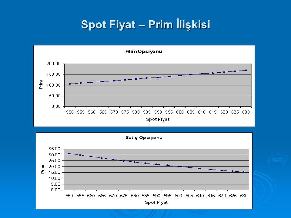 Spot Fiyat – Prim İlişkisi