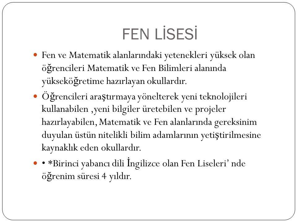 FEN LİSESİ