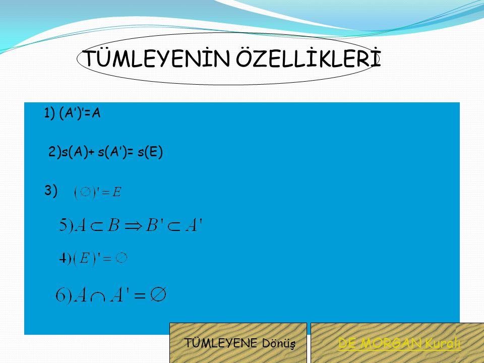 Üzerinde işlem yapılan tüm kümeleri kapsayan kümeye,evrensel küme denir. Evrensel küme genellikle E harfiyle gösterilir. Evrensel kümenin, A kümesinin