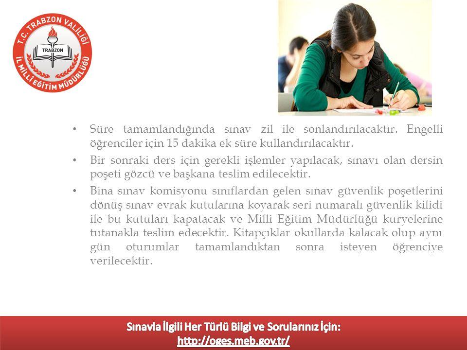Sınav günü saat 07:45'te görevli olduğu okulda bulunulacaktır.