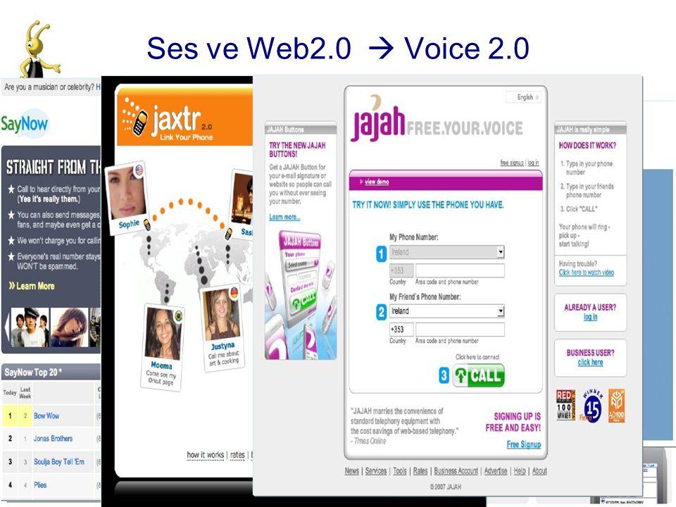 Ses ve Web2.0  Voice 2.0