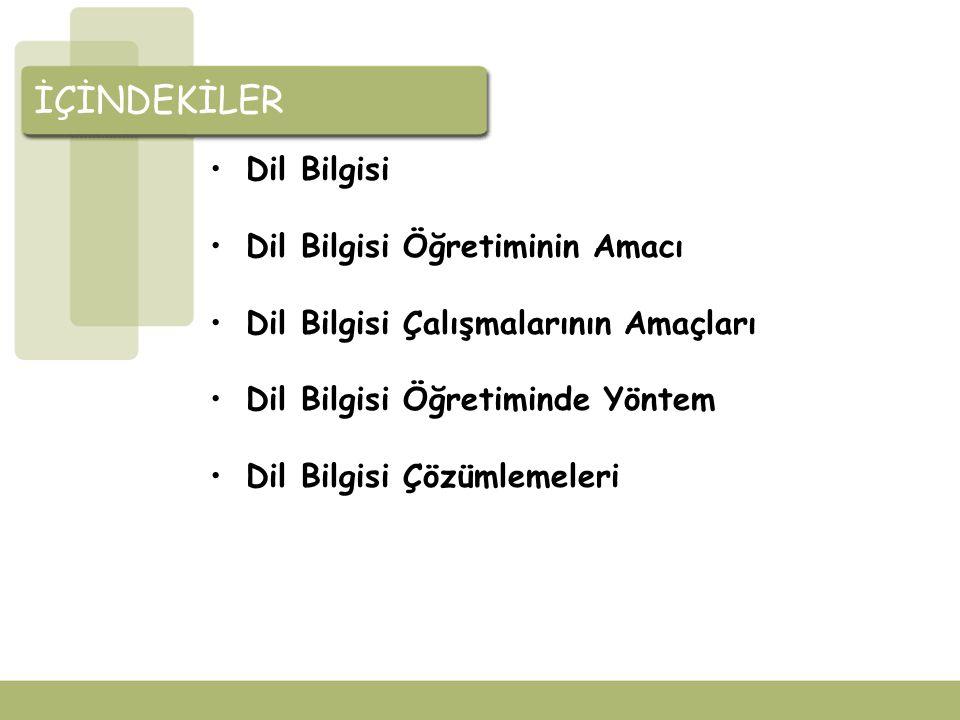 Dil Bilgisi NEDİR.