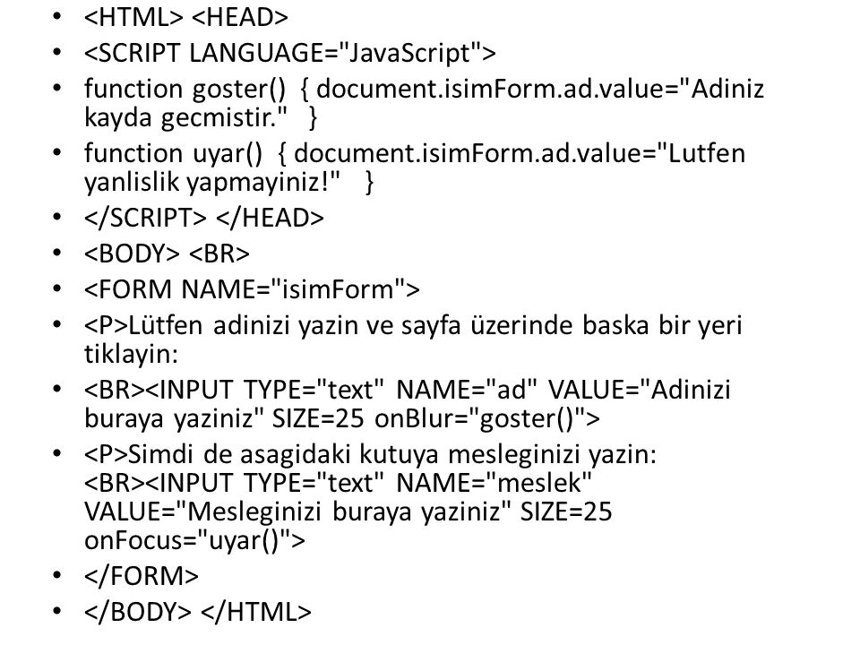 function goster() { document.isimForm.ad.value=