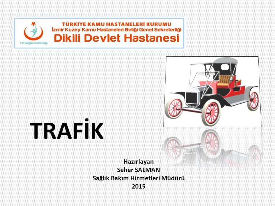 Hazırlayan Seher SALMAN Sağlık Bakım Hizmetleri Müdürü 2015 TRAFİK