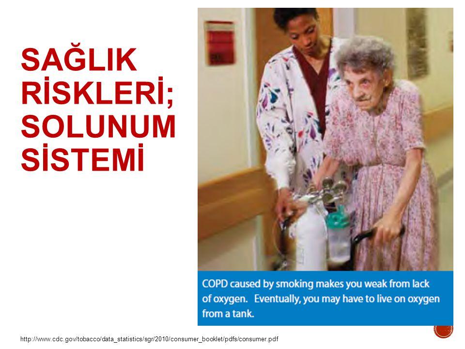 http://www.cdc.gov/tobacco/data_statistics/sgr/2010/consumer_booklet/pdfs/consumer.pdf SAĞLIK RİSKLERİ; SOLUNUM SİSTEMİ