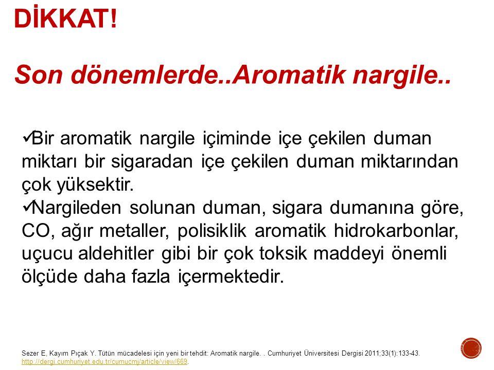 Sezer E, Kayım Pıçak Y. Tütün mücadelesi için yeni bir tehdit: Aromatik nargile.. Cumhuriyet Üniversitesi Dergisi 2011;33(1):133-43. http://dergi.cumh