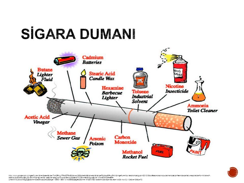 http://betobaccofree.hhs.gov/about-tobacco/Smoked-Tobacco-Products/index.html Sigara dumanı 7000'den fazla kimyasal içerir.