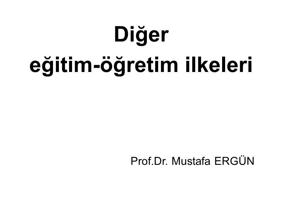 Diğer eğitim-öğretim ilkeleri Prof.Dr. Mustafa ERGÜN
