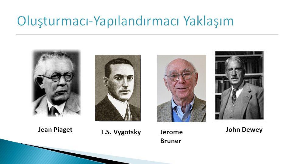 Jean Piaget L.S. Vygotsky Jerome Bruner John Dewey