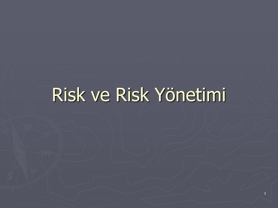 2 Risk ve Risk Yönetimi