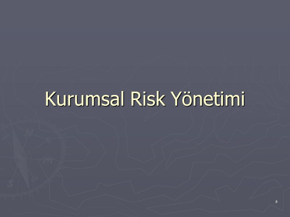 9 Kurumsal Risk Yönetimi, şirketi etkileyebilecek potansiyel olayları tanımlamak, riskleri şirketin kurumsal risk alma profiline uygun olarak yönetmek ve şirketin hedeflerine ulaşılması ile ilgili olarak makul bir derecede güvence sağlamak amacı ile oluşturulmuş; şirketin yönetim kurulu, üst yönetimi ve tüm diğer çalışanları tarafından etkilenen ve stratejilerin belirlenmesinde kullanılan, kurumun tümünde uygulanan sistematik bir süreçtir.
