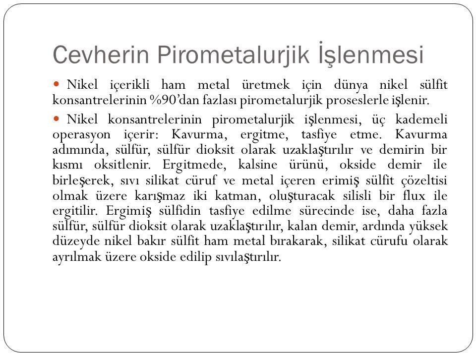 Cevherin Pirometalurjik İşlenmesi