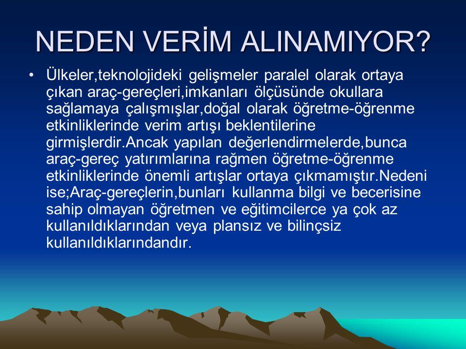 NEDEN VERİM ALINAMIYOR.